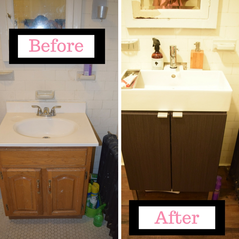 Installing Our New Ikea Lilangen Sink Vanity Brown Mamas